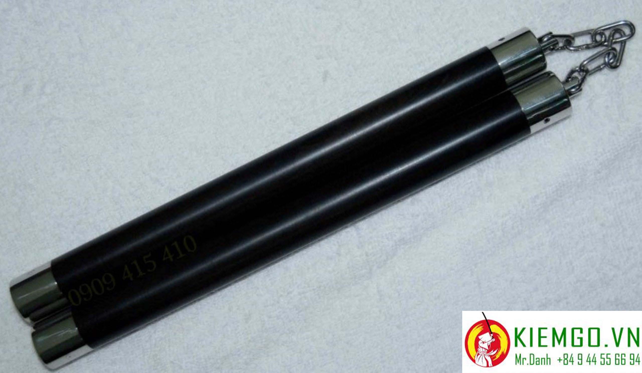 con-nhi-khuc-go-mun-sung bịt inox siêu đẹp, gỗ mun sừng quý hiếm của việt nam, gia công chuẩn sắc nét, tinh tế, dây xích khớp xoay linh hoạt cực kỳ bền và chắc chắn